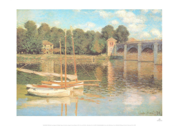 The Bridge in Argenteuil, 1874 by Claude Monet - 20 X 28
