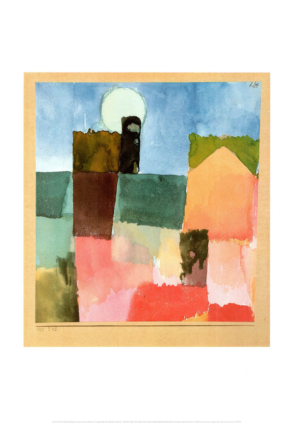 Moonrise, 1915 by Paul Klee - 20 X 28 Inches (Poster)