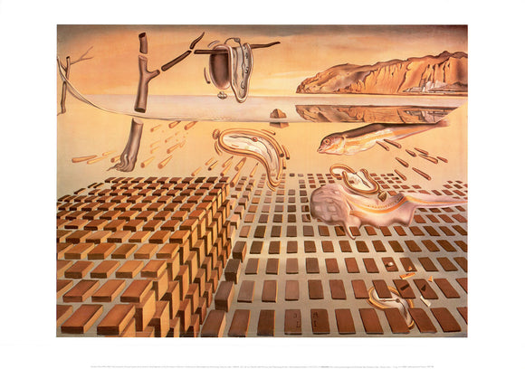 Desintegration of the Persistence of Memory, 1952-54 by Salvador Dali - 20 X 28