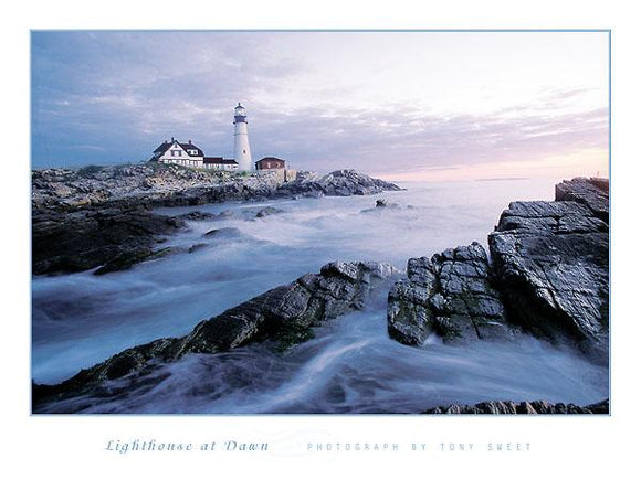 Lighthouse at Dawn by Tony Sweet - 24 X 32