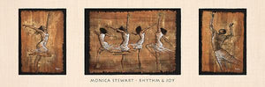 "Rhythm & Joy by Monica Stewart - 12 X 36"" - Fine Art Poster."