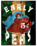 "Early Peas by Cedric Smith - 19 X 23"" - Fine Art Poster."