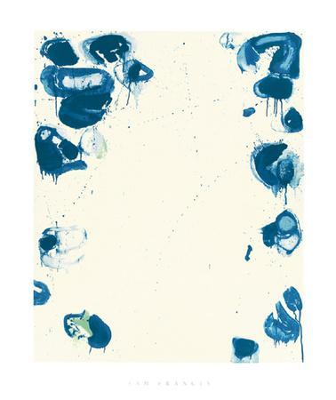 Blue Balls IV, 1960 by Sam Francis - 40 X 48