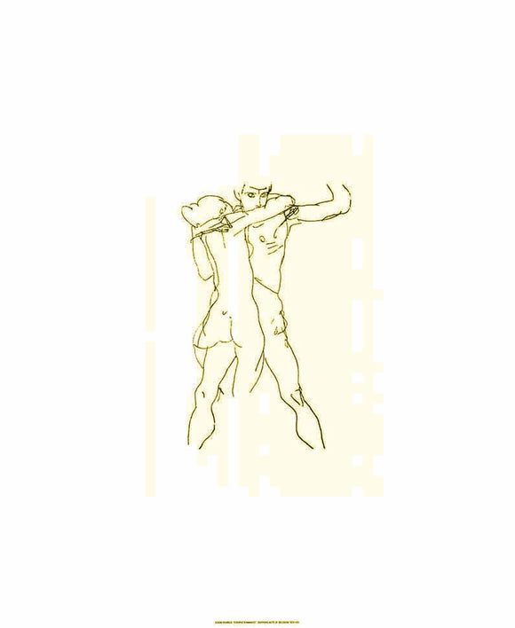 Couple of lovers by Egon Schiele - 20 X 24