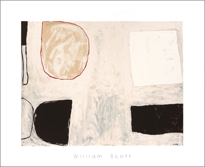 Shapes and Shadows, 1962 by William Scott - 28 X 36 Inches - (Silkscreen / Sérigraphie)