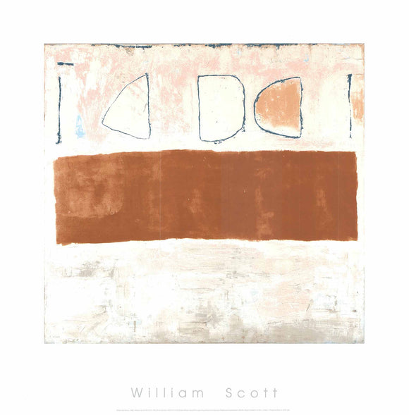 White and Ochre, 1960 by William Scott - 27 X 27 Inches - (Silkscreen / Sérigraphie)