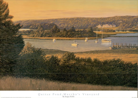 Quitsa Pond, Martha's Vineyard by Sergio Roffo - 24 X 36 Inches - Fine Art Poster.
