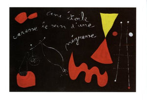 A Star Caresses the Breast of Negress, 1938 by Joan Miro - 5 X 7 Inches (Greeting Card)