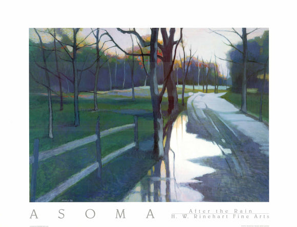 After the Rain by Tadashi Asoma - 27 X 35
