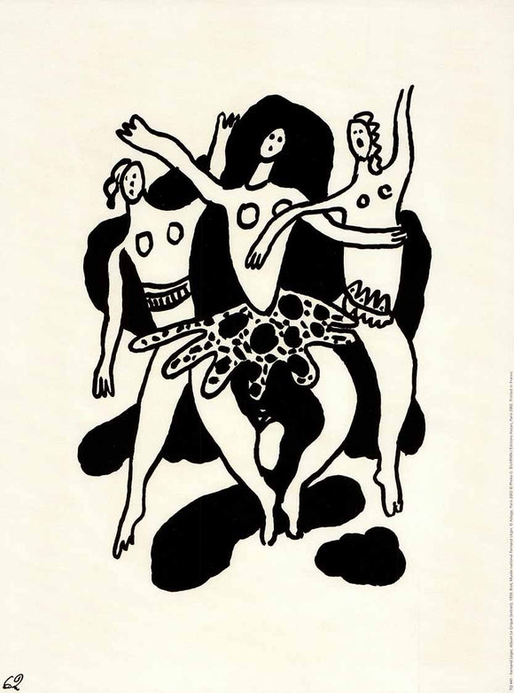 Le Cirque Album (extract), 1950 by Fernand Leger - 12 X 16 Inches (Poster)