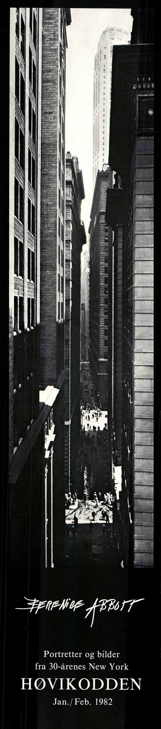 Exchange Place, New York, 1933 by Berenice Abbott - 8 X 34 Inches - Fine Art Poster.