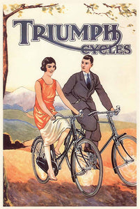 "Triumph Cycles, 1922 - 20 X 28"" - Fine Art Poster."