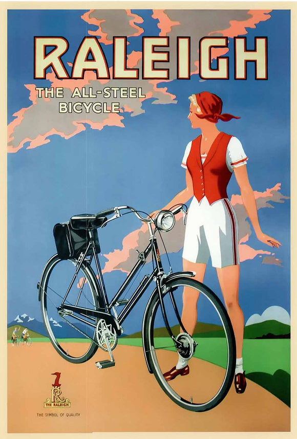 The All Steel Bicycle, 1925 by Raleigh - 20 X 28