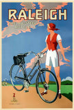 "The All Steel Bicycle, 1925 by Raleigh - 20 X 28"" - Fine Art Poster."