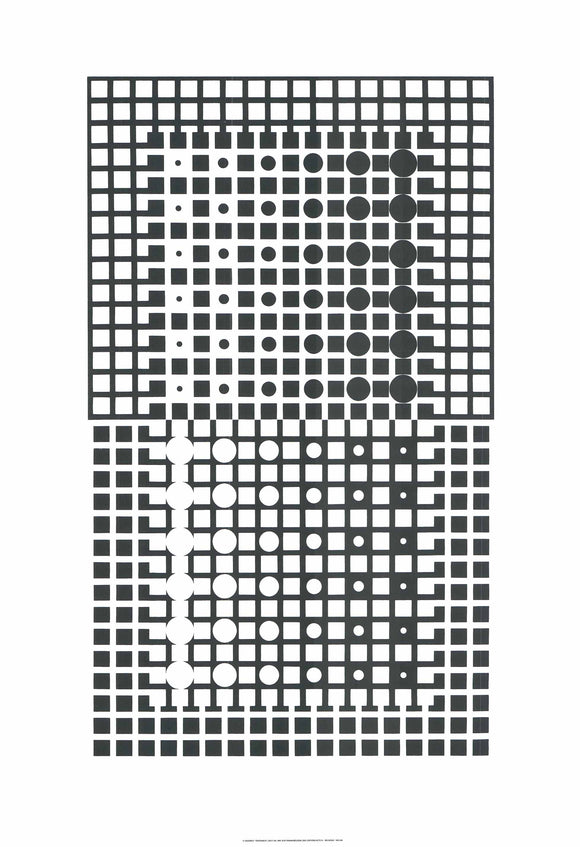 Centauri II, 1965 by Victor Vasarely - 28 X 40 Inches - (Silkscreen / Sérigraphie)