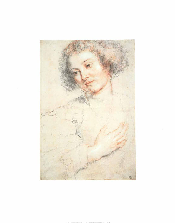 Study of Woman by Peter Paul Rubens - 16 X 20
