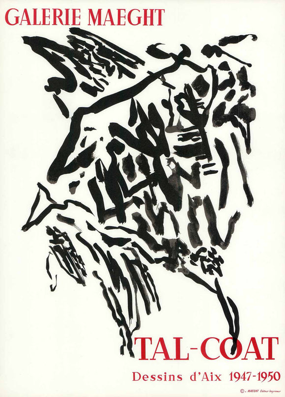 Tal-Coat, 1947/50 - Galerie Maeght (Lithograph/Poster)