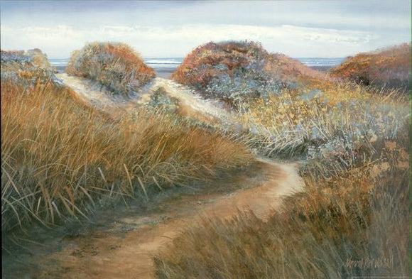 Path to the Beach I, 2000 by Kenneth Wilson - 24 X 36 Inches - Fine Art Poster.