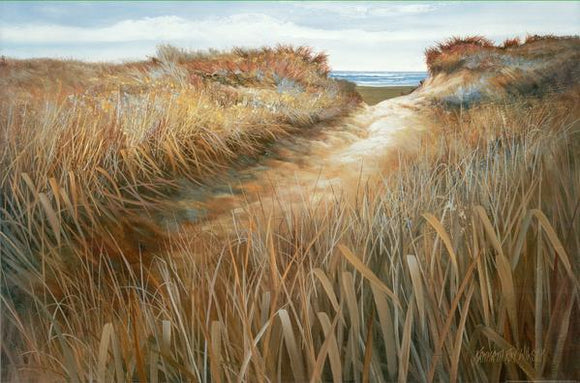 Ocean Vista I, 2000 by Kenneth Wilson - 24 X 36 Inches - Fine Art Poster.