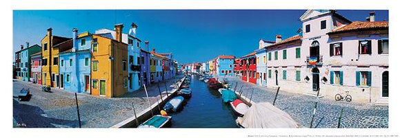 Burano by John Xiong - 14 X 40 Inches - Fine Art Poster.