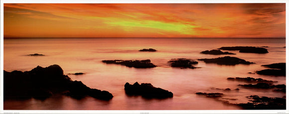 Ocean Sunset - 16 X 40 Inches - Fine Art Poster.