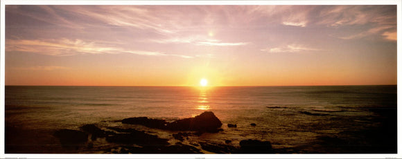 Sunrise - 16 X 40 Inches - Fine Art Poster.