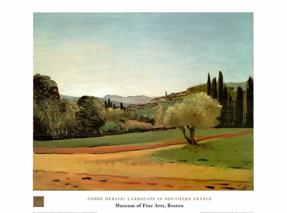 Landscape in Southern France by Andre Derain - 24 X 32 Inches - Fine Art Poster.