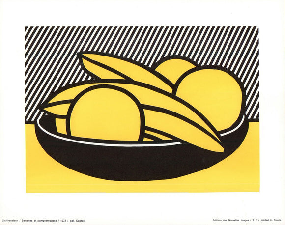 Bananas and Grapefruit, 1972 by Roy Lichtenstein - 10 X 12 Inches (Art Print)