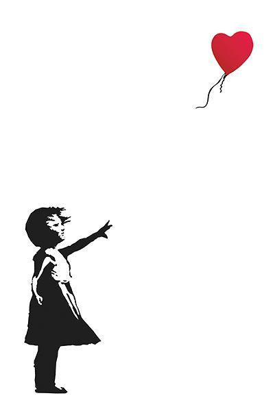 Balloon Girl by Banksy - 24 X 36 inches (Art Print)