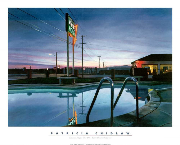 White's Motel by Patricia Chidlaw - 26 X 32 Inches (Art Print)