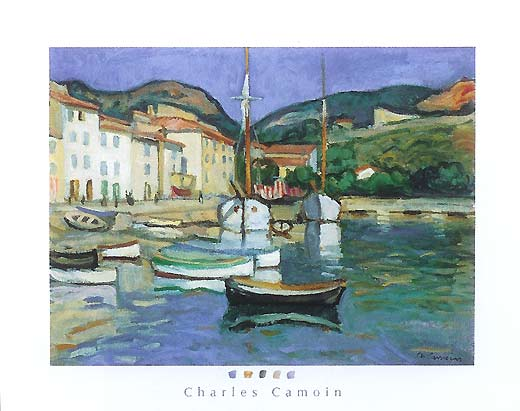 Harbour of Cassis with Two Tartanes / Le port de Cassis a la barque noire