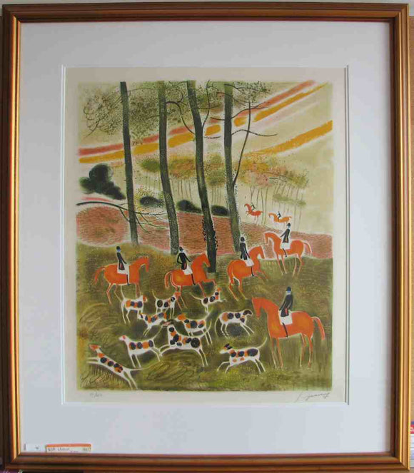 La Chasse (Framed Lithograph Numbered & Signed) 55/250