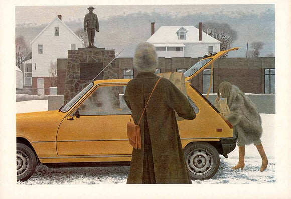 Main Street, 1979 by Alex Colville - 11 X 16 Inches (Art Print)