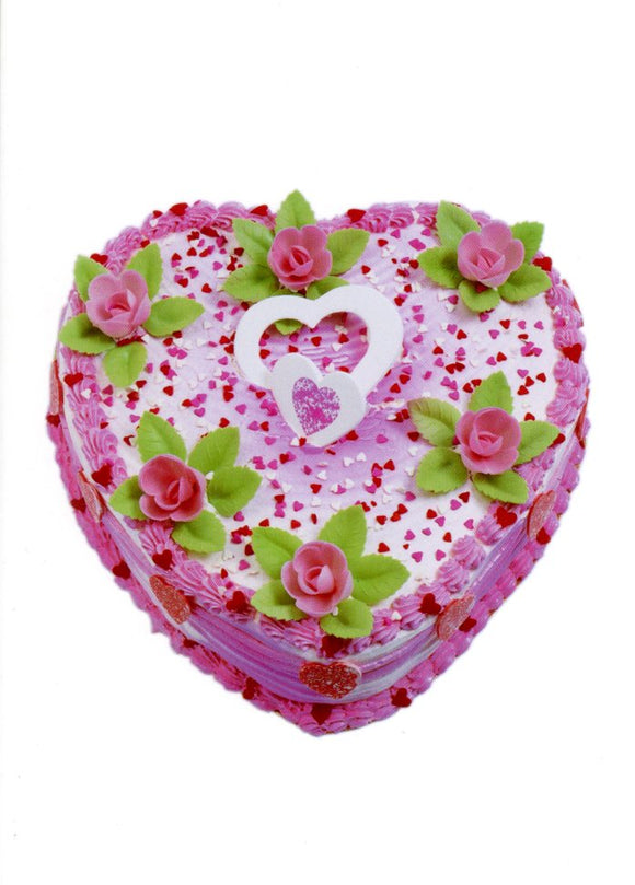 Heart of Cake by Florian Kleinefenn - 5 X 7 Inches (Greeting Card)