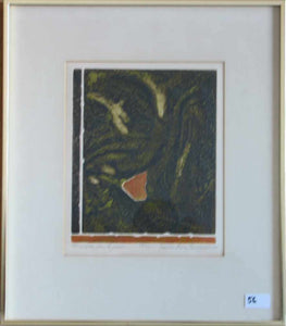 Une Pierre Dans Le Jardin (Framed Lithograph Numbered & Signed) 39/50