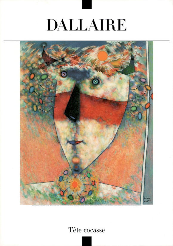 Funny Head, 1960 by Jean Dallaire - 27 X 38 Inches (Art Print)
