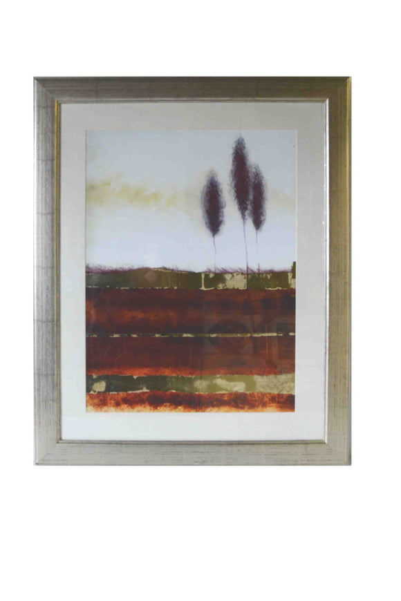 Landscape - (Art Print with Frame, Matte & Glass Ready to Hang)