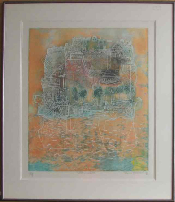Soiree Insulaire by Hasegawa (Framed Lithograph Numbered & Signed) E.A. 6/10