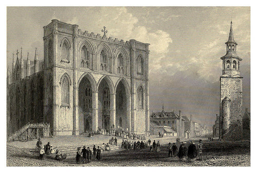 The Cathedral, Montreal / Cathédrale de Montréal, 1840 (Framed)