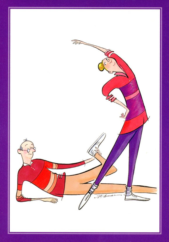 Message Inside: Workout Duo by Jeanne A. Benas  - 5 X 7 Inches (Greeting Card)