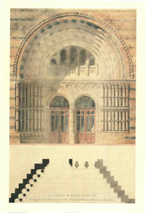 Museum Entrance by Alfred Waterhouse - 28 X 40 Inches (Art Print)