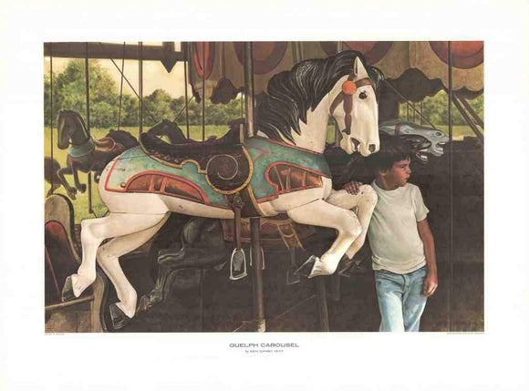 Guelph Carousel, 1977 by Ken Danby - 22 X 29 Inches (Art Print)