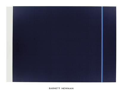 Midnight Blue, 1970 by Barnett Newman - 40 X 48