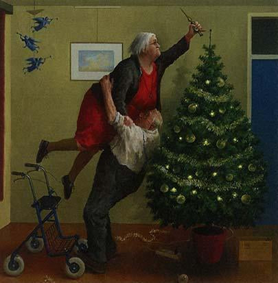 Christmas Angels, 2016 by Marius van Dokkum - 6 X 6