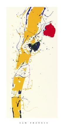 Untitled, 1985 by Sam Francis - 20 X 40 Inches - (Silkscreen / Sérigraphie)