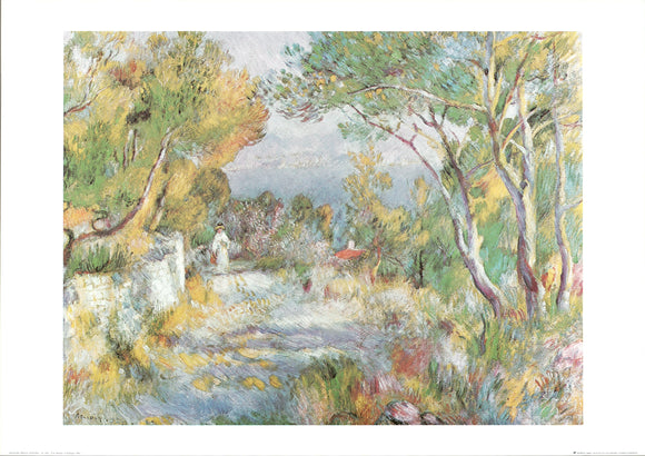 L'Estaque,1882 by Pierre Auguste Renoir - 20 X 28 Inches - Fine Art Poster.