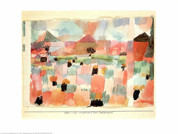 Saint-Germain near Tunis, 1914 by Paul Klee - 12 X 16