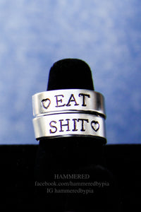 EAT SHIT w/HEARTs wrap ring