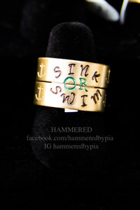 SINK OR SWIM BRASS RINGS SET