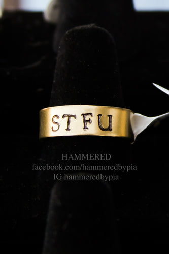 BRASS STFU RING